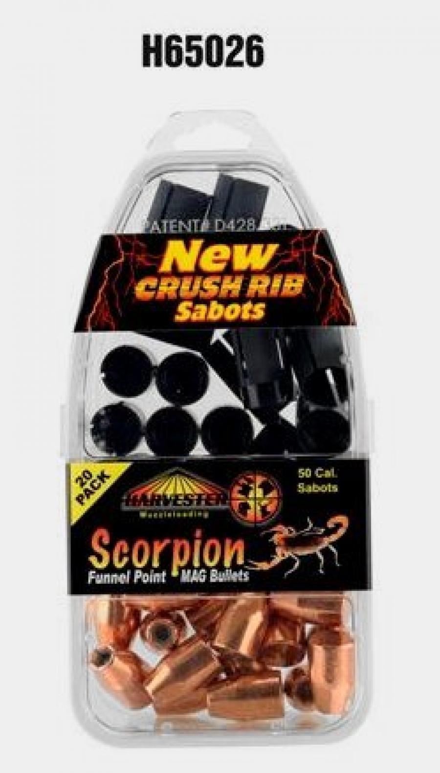 50 Cal. Sabot 260 gr. .451 Funnel Point Mag Bullet - Pack Qty: 20